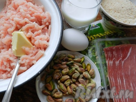 Ингредиенты для приготовления суфле из индейки