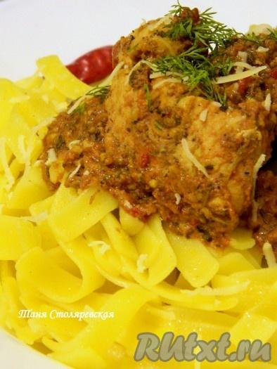 Интенсивный желтый цвет гарнира разнообразил мое блюдо и семья подхватила это итальянское настроение!