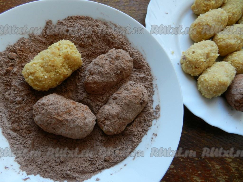 Как сделать пирожное картошка из муки