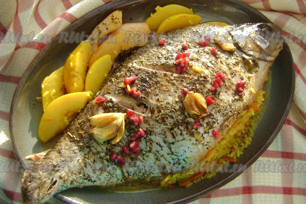 рыба в духовке с рисом рецепты с фото