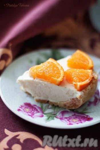 Апельсиновый торт мороженое