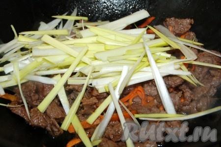 Жареная капуста с мясом рецепт