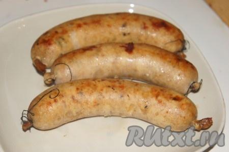 Вот такие аппетитные итальянские колбаски получились.