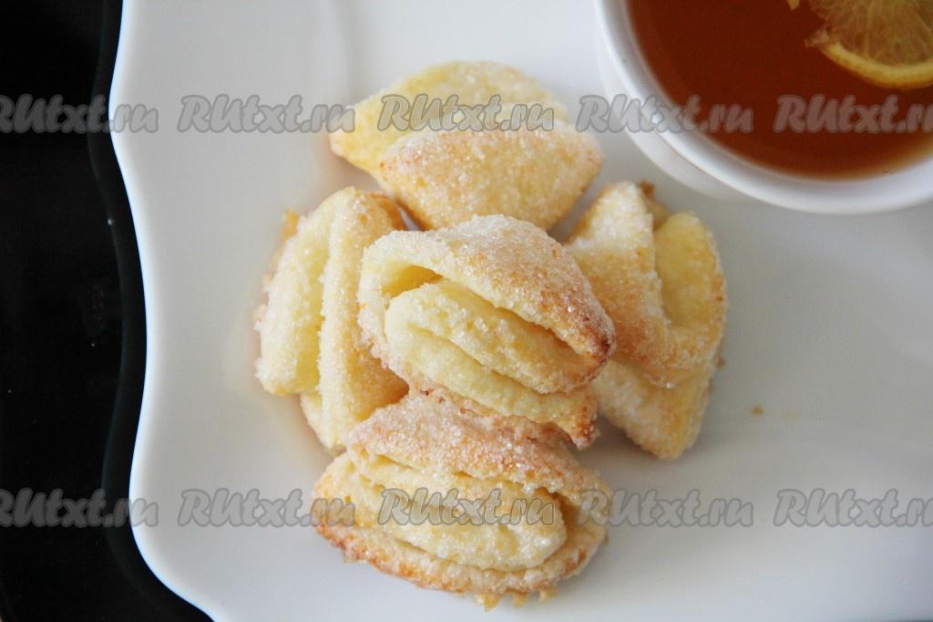 творожное печенье рецепт с фото пошагово конвертики