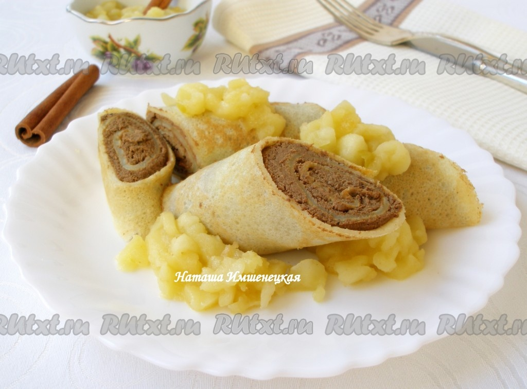 блины с начинкой из мяса рецепт с фото #6