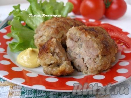 рецепт рубленных котлет из свинины с грибами