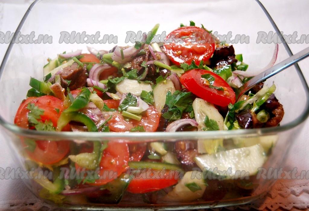 овощные салаты с маслом рецепты с фото