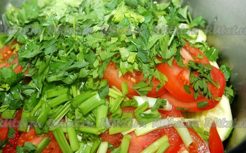 рецепт зеленый салат с маслом