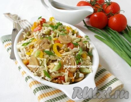 Салаты овощные без майонеза рецепты с простые и вкусные