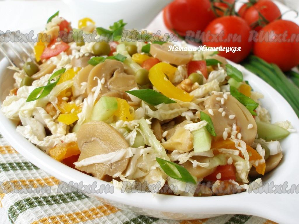 Простые рецепты салатов без майонеза