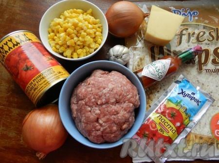 Ингредиенты для приготовления энчилада