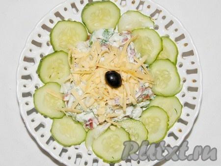 Рецепты салата с мясом и свежим огурцом