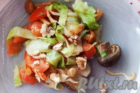 рецепты консервации салатов с грибами