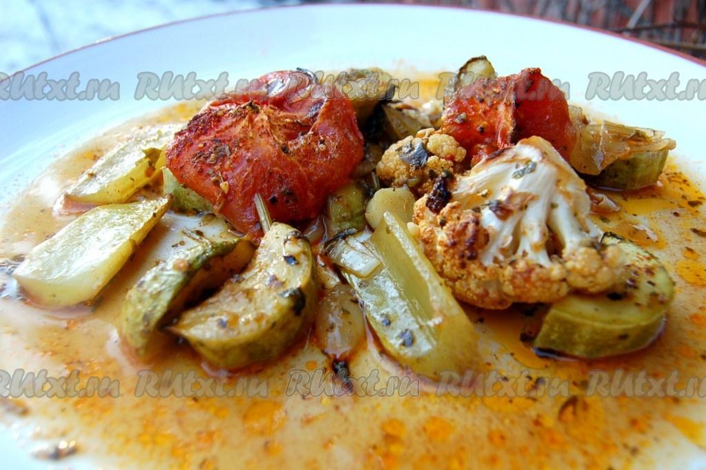 рецепт запеченных овощей в фольге в духовке рецепт