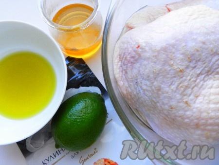 Ингредиенты для приготовления окорочков в аэрогриле