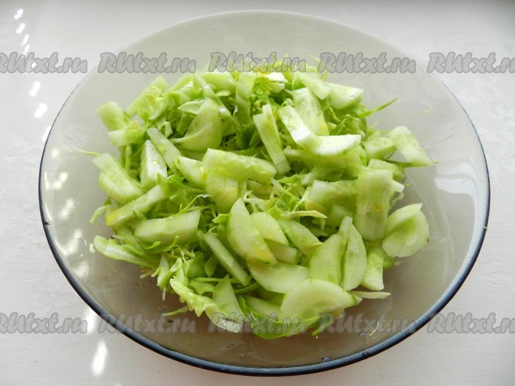 Заправка для салата из капусты с огурцами