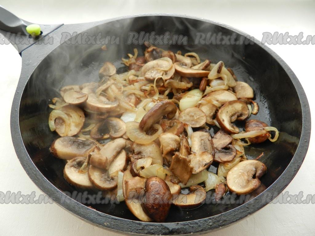 Как сделать грибы на сковороде