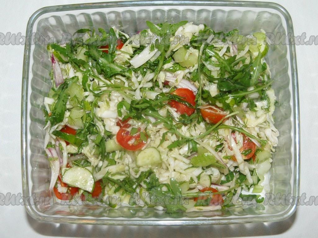 Овощные салаты из капусты рецепты