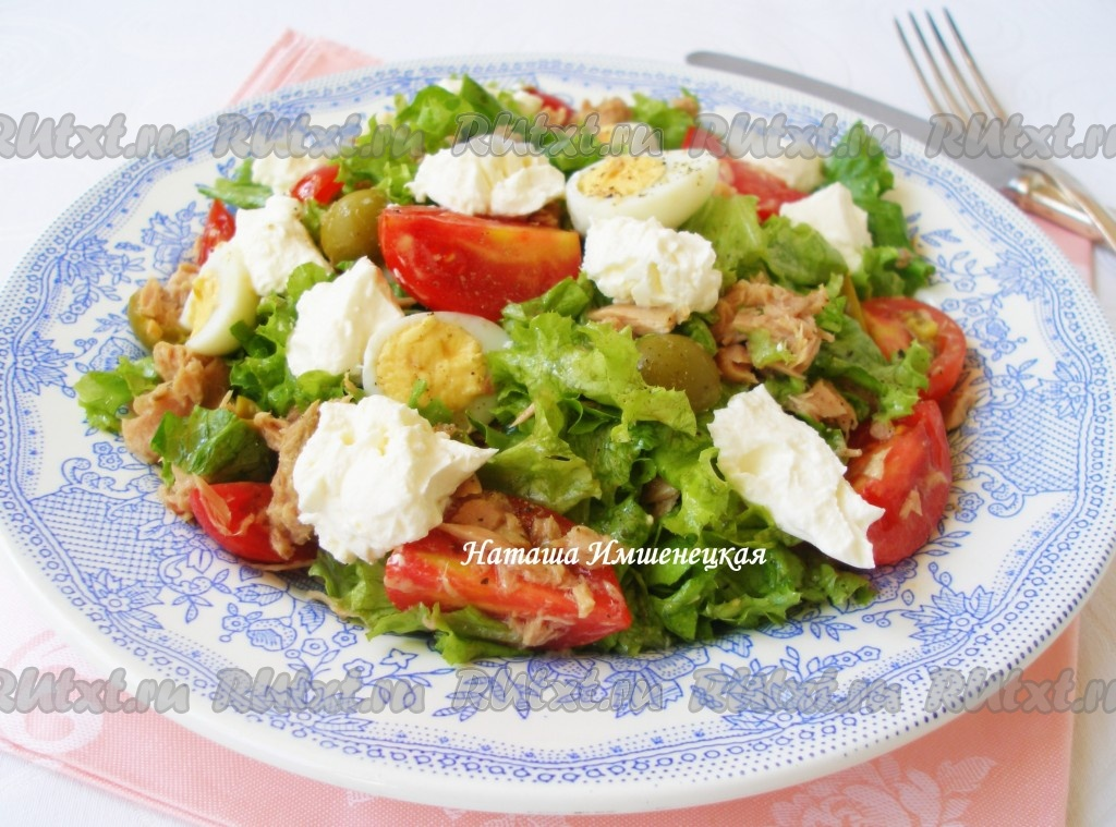 салат с тунцом рецепт с яйцами