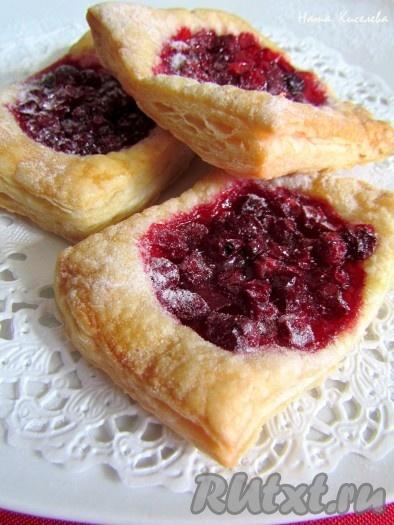 пирог с брусникой из бездрожжевого теста рецепт с фото