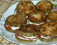 Запеченные кабачки с картофелем помидорами и сыром