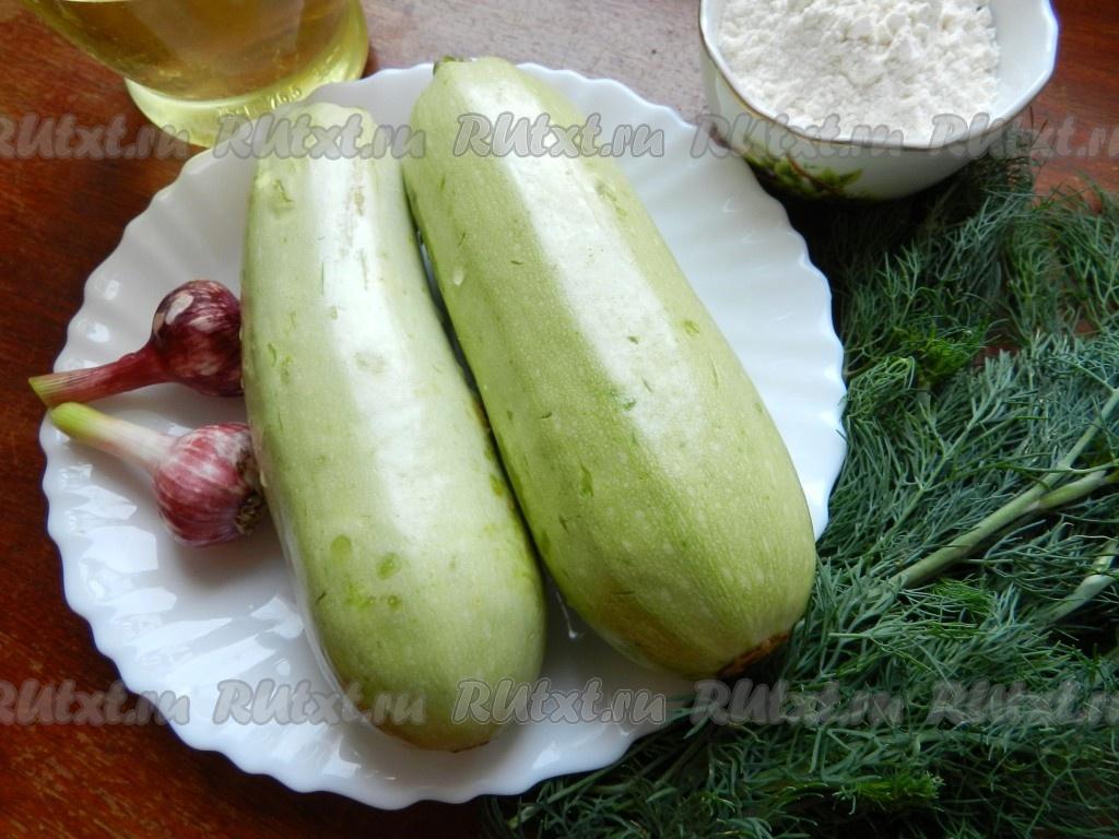 Рецепт кабачки жареные с чесноком пошагово