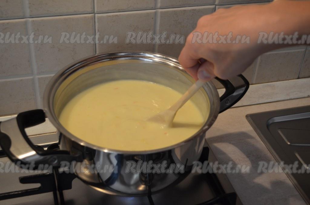 рецепт песочного торта с заварным кремом с фото