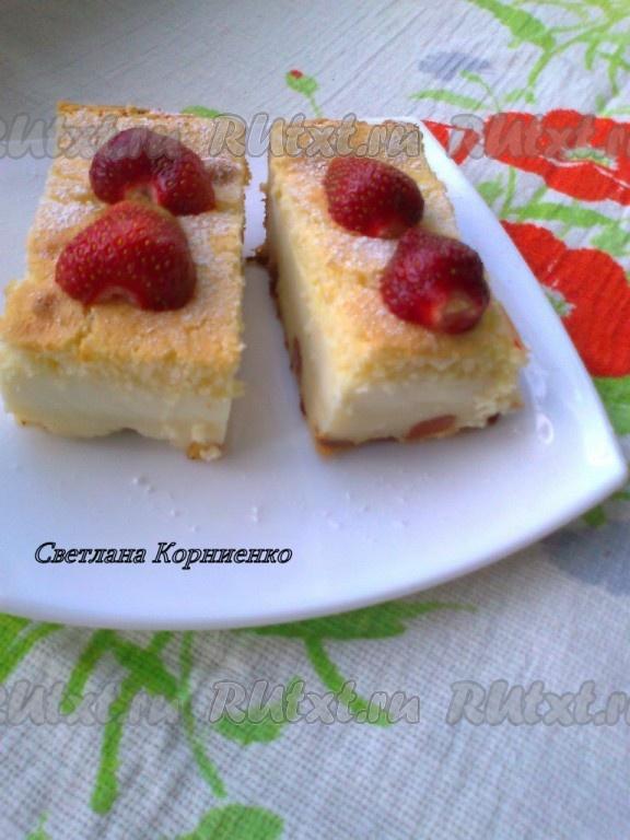 Слоеное пирожное с кремом рецепт