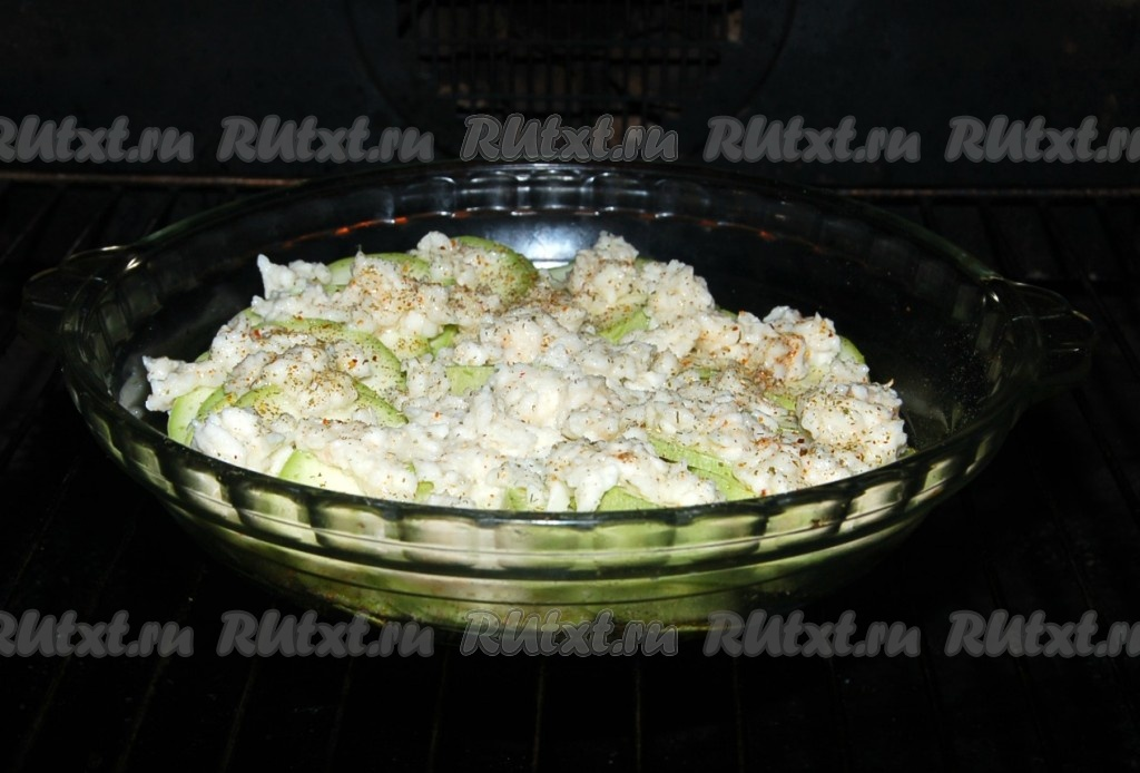 кабачки с моцареллой в духовке рецепт с фото