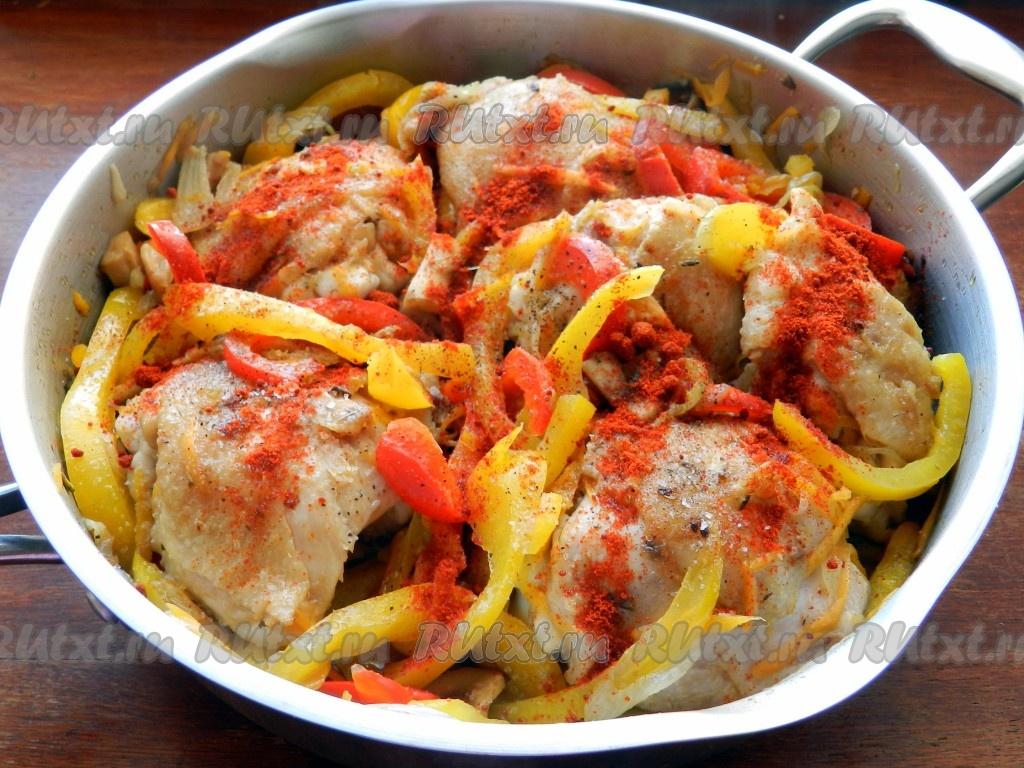 рецепт салатов с шампиньонами и болгарским перцем