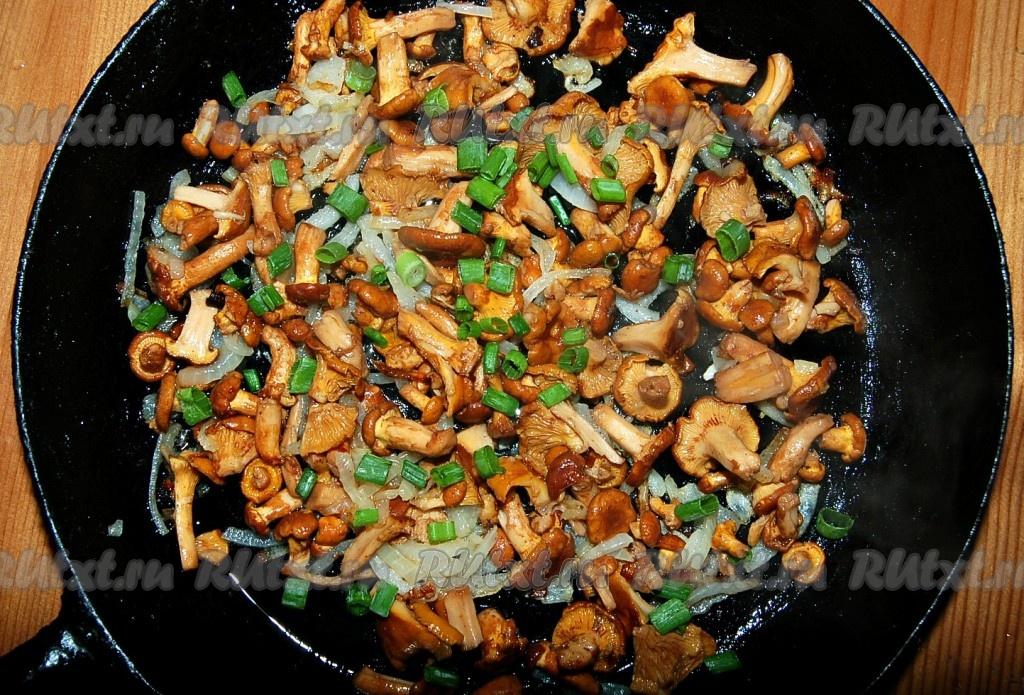 Рецепт жареных лисичек грибы