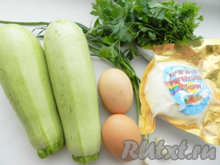 Ингредиенты для приготовления кабачковой запеканки с сыром