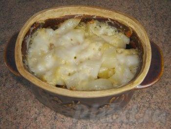 Готовая картошка с сыром