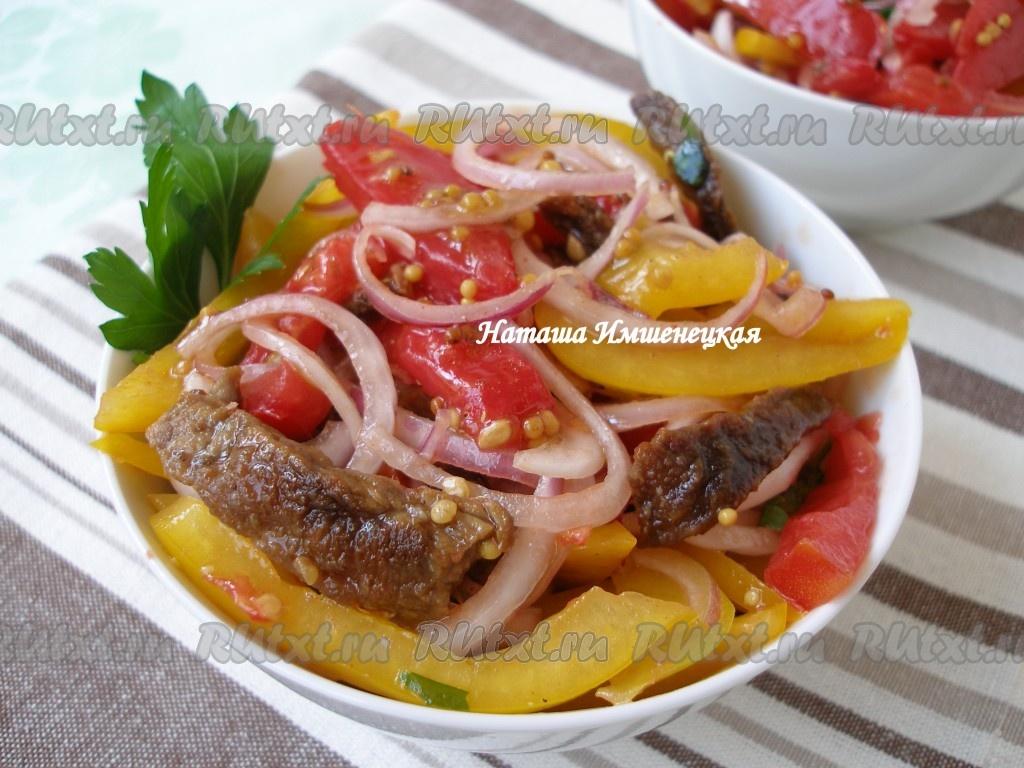 Салат с болгарским перцем простой рецепт - e7f9