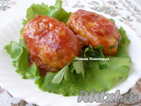 рецепт котлет с гречкой в томатном соусе