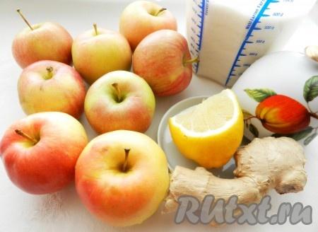 Ингредиенты для приготовления яблочного джема