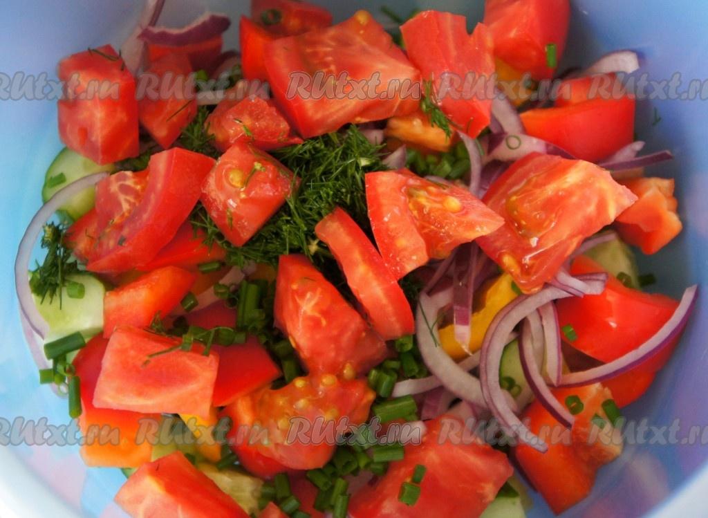 салат с креветками перцем рецепт с фото