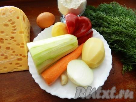 Ингредиенты для приготовления овощных котлет