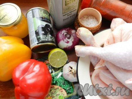 Ингредиенты для приготовления курицы по-испански