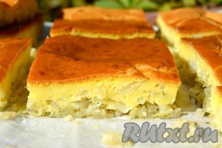Вкуснейший заливной пирог с капустой так и просится в рот!