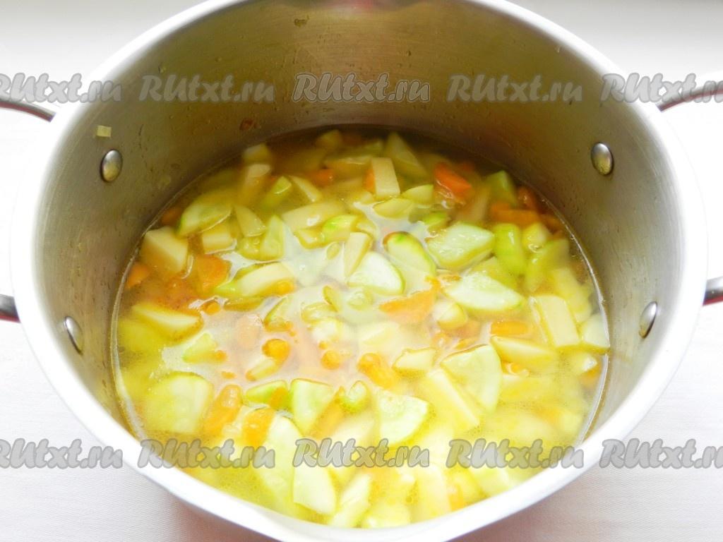 сытный овощной суп рецепт с фото