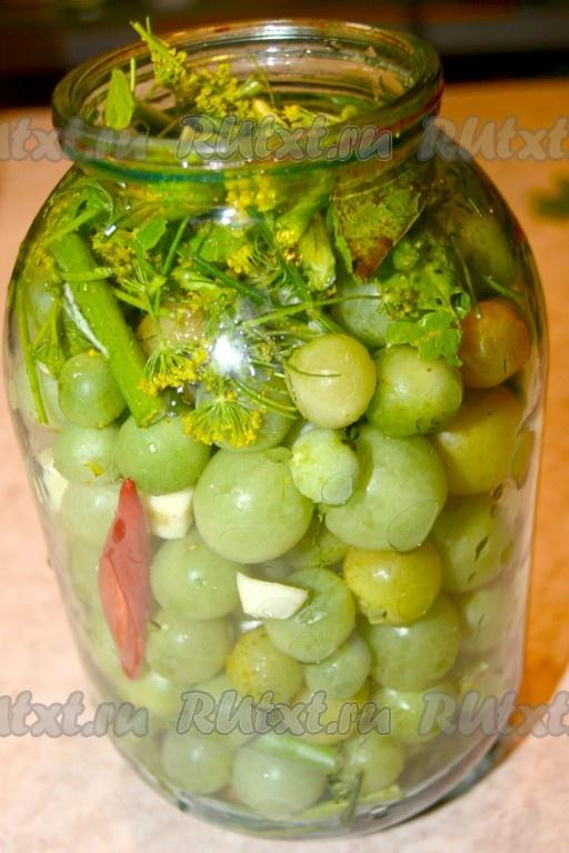 засолка зелёных помидоров на зиму