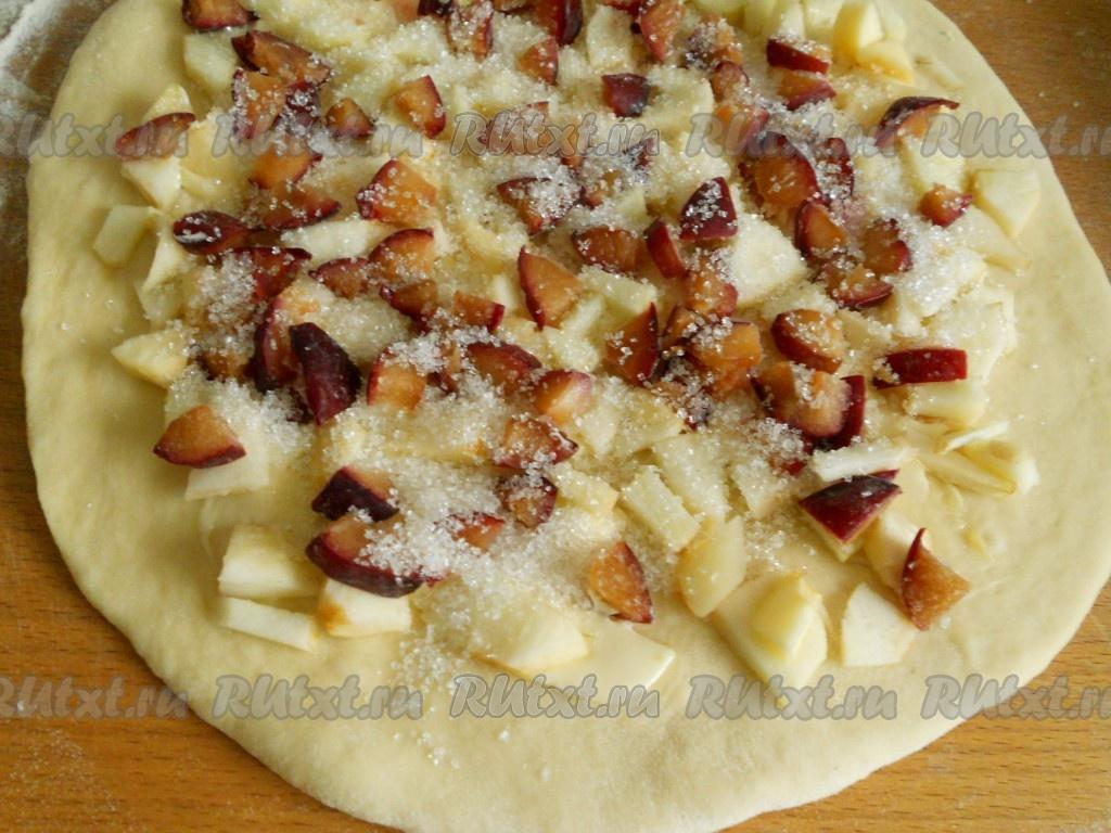 Пирог с яблоками с крахмалом рецепт