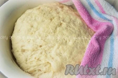 Приготовим тесто для лепешек.