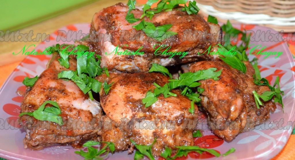 рецепт курица в аджике в духовке рецепт