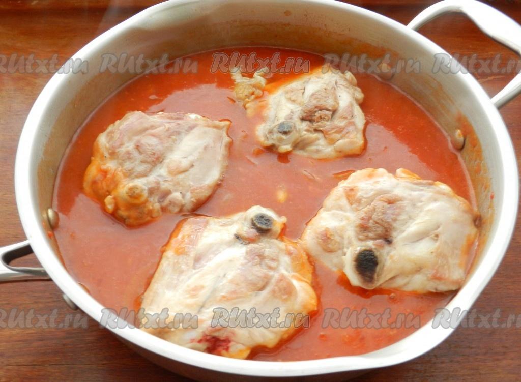 куриные бедра с подливкой рецепт с фото