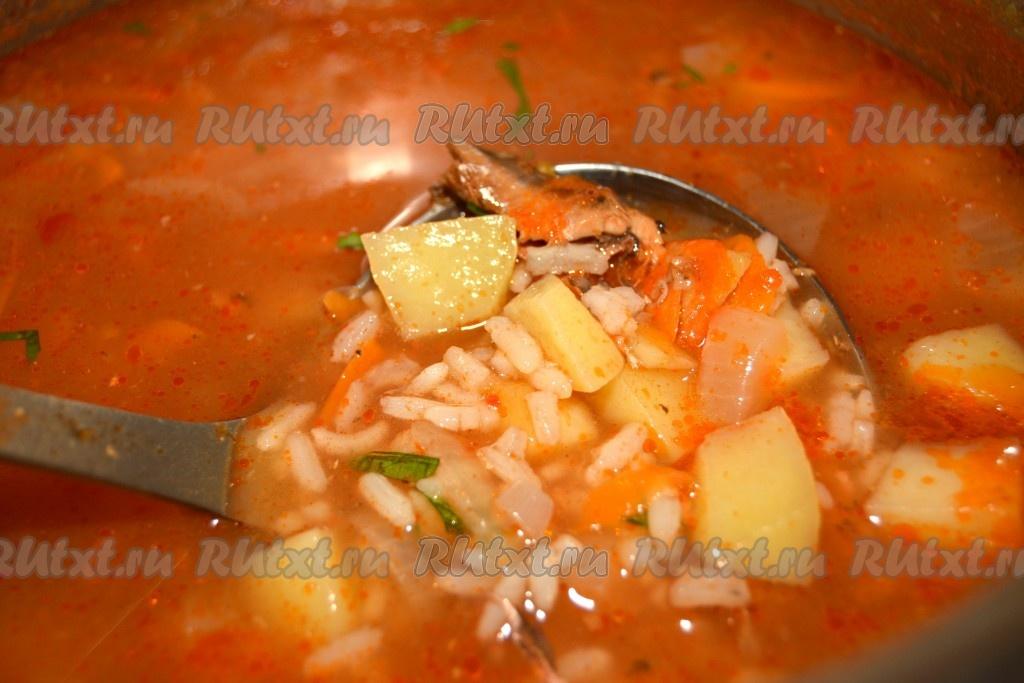 суп с кильки в томатном соусе рецепт с фото без риса