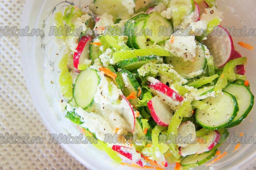 рецепт салата из овощей с чипсами