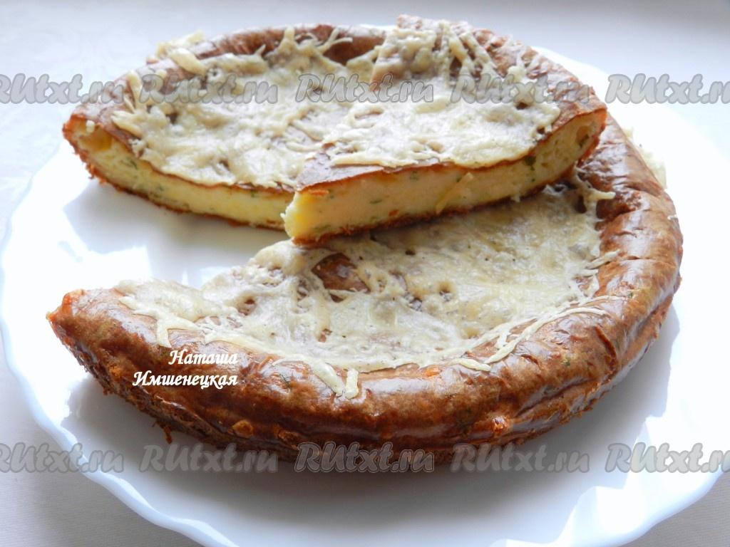 Пирог с творогом и сыром рецепт
