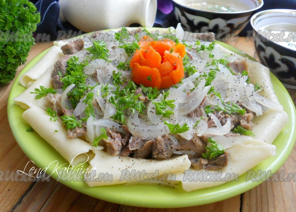бешбармак из баранины рецепт